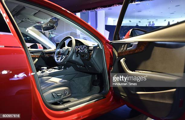 Front cabin of the all new Audi A4 which launch on September 8 2016 in New Delhi India