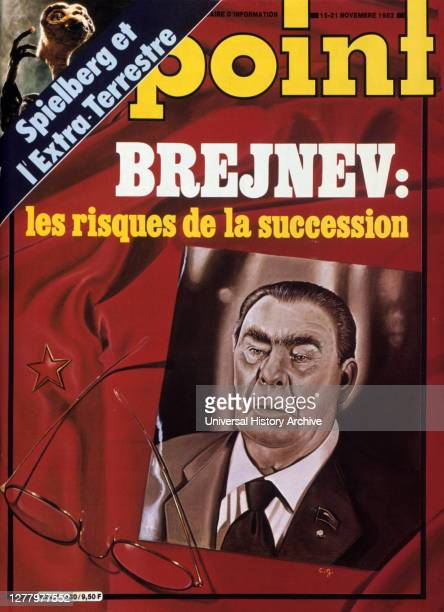 front cover of French new magazine 'Le Point' 1982 Speculation about the leadership of the soviet union after Leonid Brezhnev