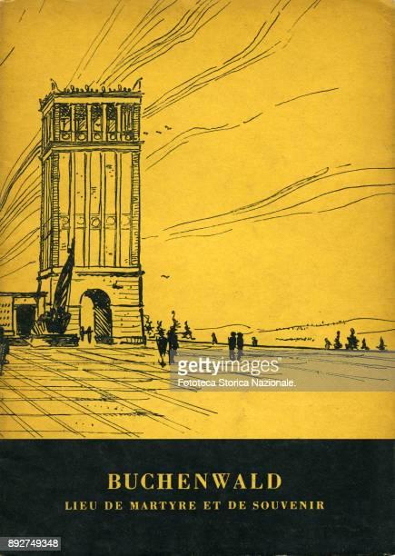 Front cover of the booklet 'Buchenwald lieu de Martire et de souvenir' the book explains the transformation of the concentration camp into historical...