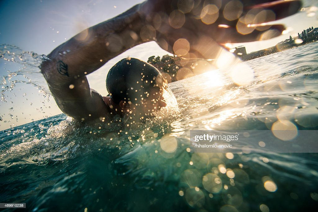 Front crawl : Stock Photo