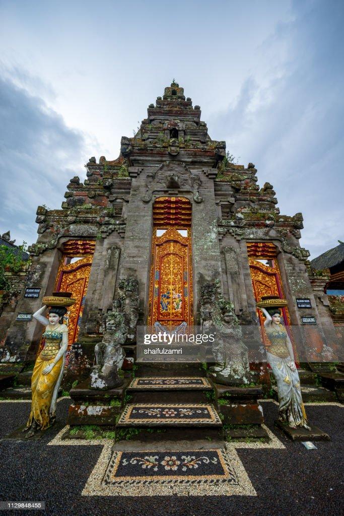 Front door for one of temple in Pura Ulun Danu Bratan : Stock Photo