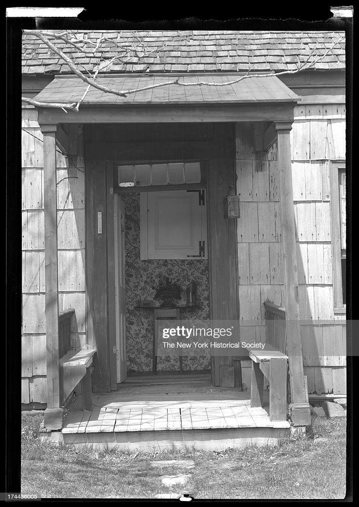 house front door open. Front Door Of An Unidentified Wood-Shake House House Front Door Open