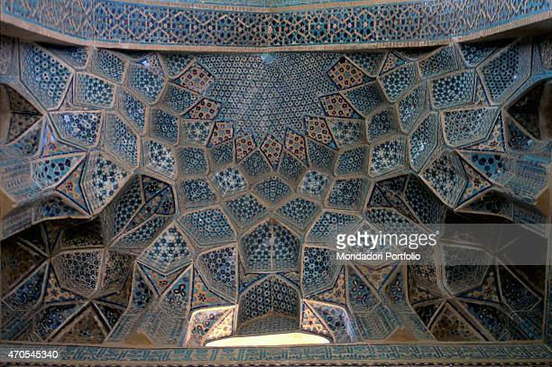 'Front Door Vault of the Funerary Complex of the Sheiykh Abd alSamad 14th Century mixed technique Iran Natanz Detail Vault of the front door is...