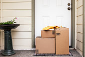 Front Door with Delivery Boxes