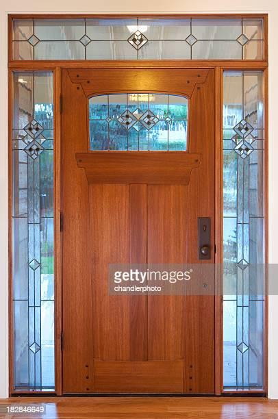 Tür mit Glas-Grenze