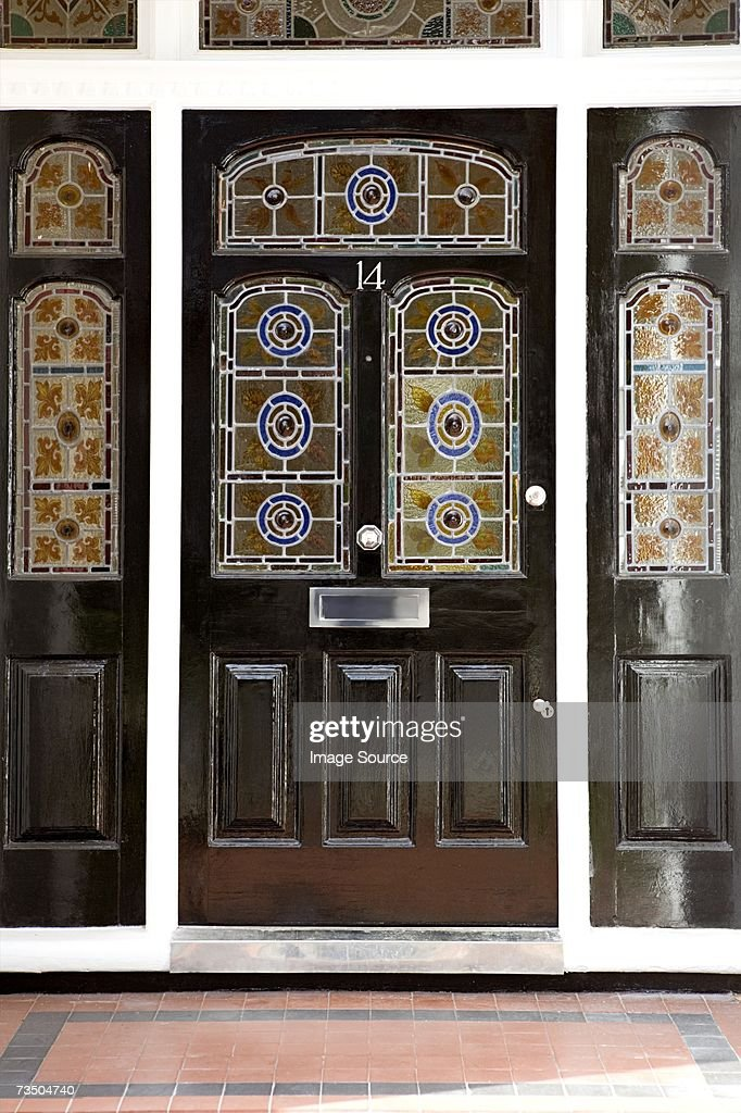 Front Door With Stained Glass Windows Stock Photo Getty Images
