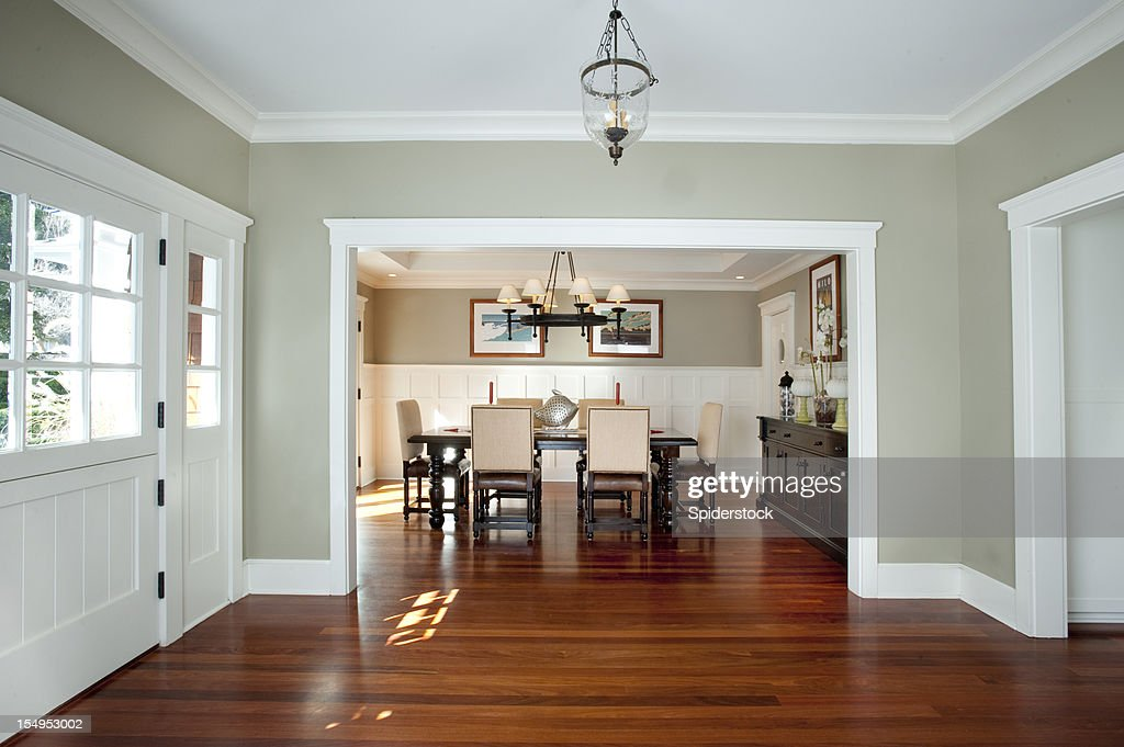 Front Entrance And Dining Room Stock Photo