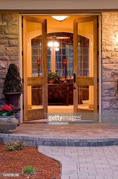 Front entrance door open