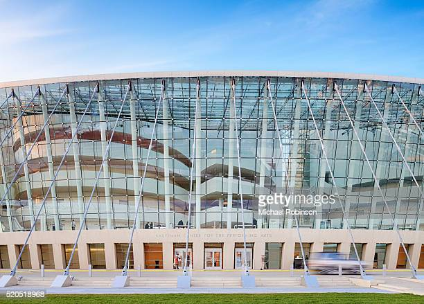 front entrance of the kauffman center for the performing arts - performing arts center stock pictures, royalty-free photos & images