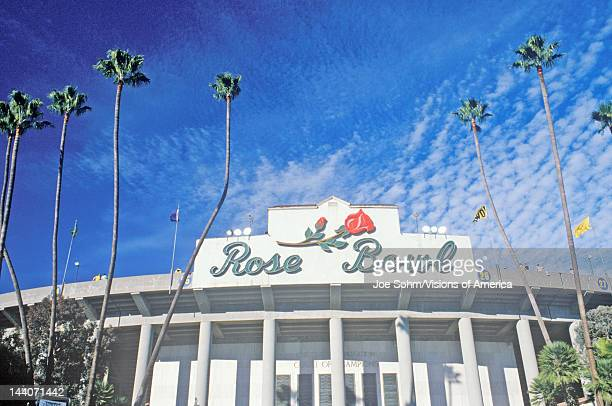 Front entrance to the Rose Bowl in Pasadena Pasadena California