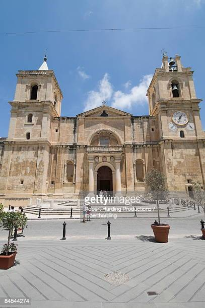 Front exterior of St. John's Co-Cathedral, Valletta, Malta, Europe