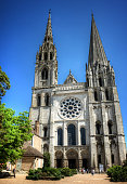Front Facade of the Chartres Cathedral, France