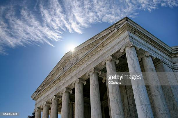 front facade of the jefferson memorial in washington dc - ogphoto stock pictures, royalty-free photos & images