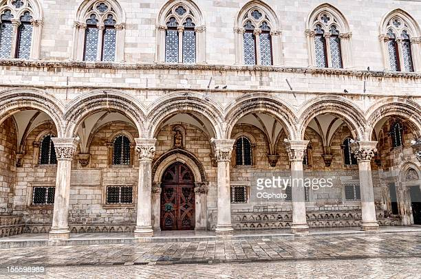 Front facade of the Rector's Palace, Dubrovnik, Croatia