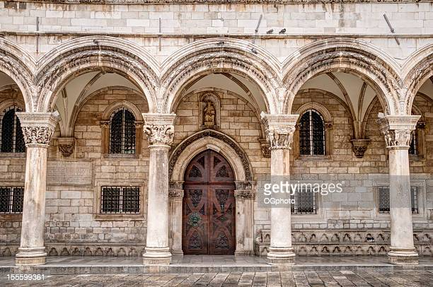 front facade of the rector's palace, dubrovnik, croatia - ogphoto stock photos and pictures