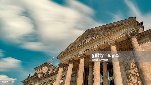 Front facade of the Reichstag, Berlin
