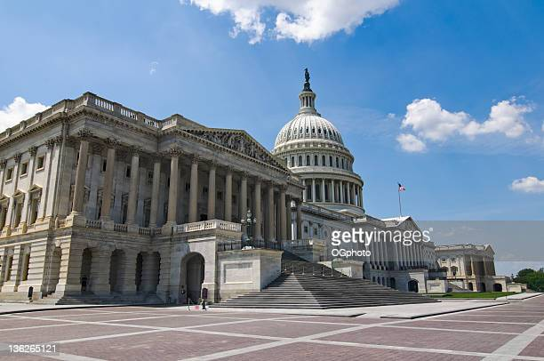 front facade of the united states capitol building - house of representatives stock pictures, royalty-free photos & images