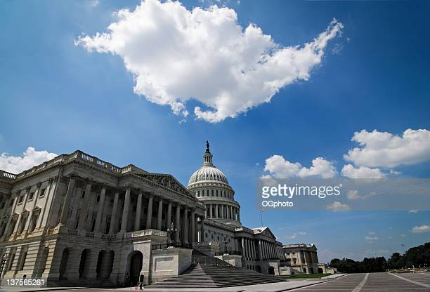 front facade of the united states capitol building - ogphoto stock pictures, royalty-free photos & images