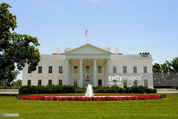 front facade of the white house in washington, dc - ogphoto stock pictures, royalty-free photos & images