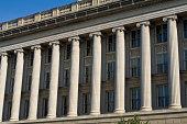 Front Facade Row Columns, Department of Commerce, Washington DC, USA