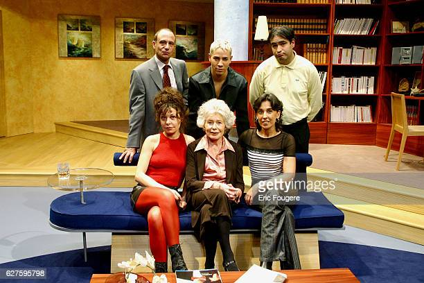 Isabelle Mergault Claude Sarraute and Isabelle Alonso Second row from left to right Gerard Miller Steevy Boulay and Raphael Mezrahi