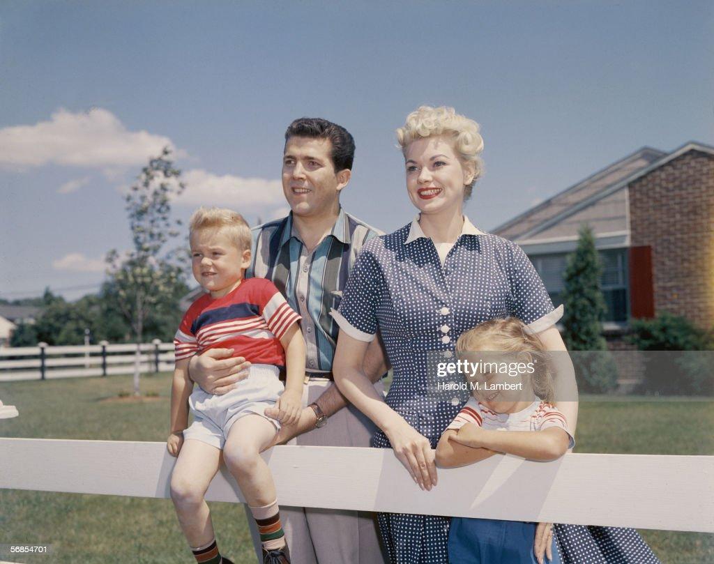 Front Garden Family : Stock Photo