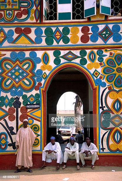 Front gate to the Royal Palace of the Emir of Zaria Zaria State Nigeria West Africa