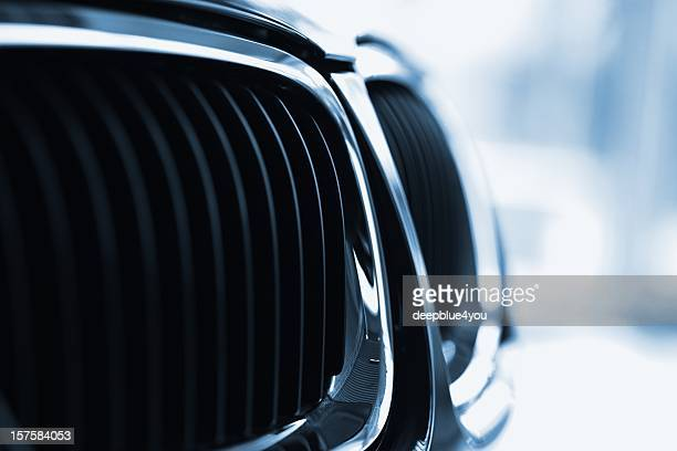 Front grille of a modern sports car