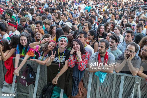 Front line during Miguel Araujo concert during Day 1 of NOS Alive Festival 2018 on July 12 2018 in Lisbon Portugal