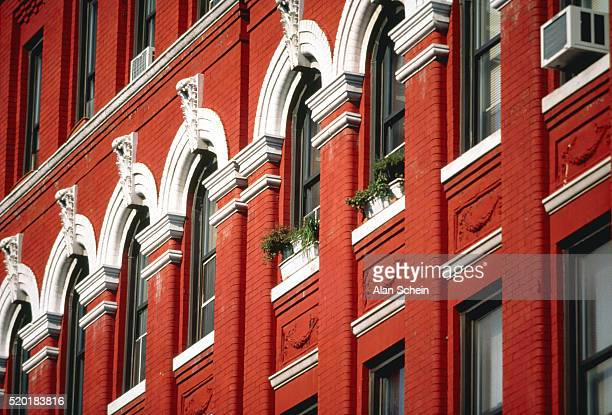 Front of a building in Harlem, New York City