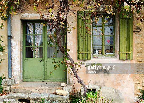 front of a medieval house - provence alpes cote d'azur stock pictures, royalty-free photos & images