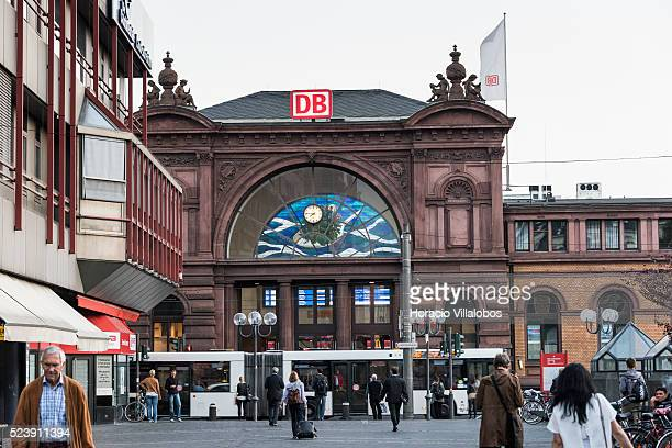 Front of central train station,Hauptbahnhof, in Bonn, Germany, 09 September 2014. Bonn, that offers many touristic attractions, was founded in the...