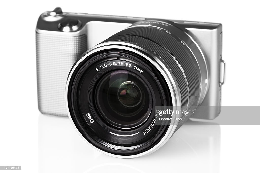 Front of digital camera : Stock Photo