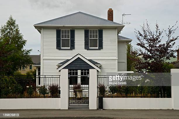 front of house, christchurch, new zealand - facade stock pictures, royalty-free photos & images