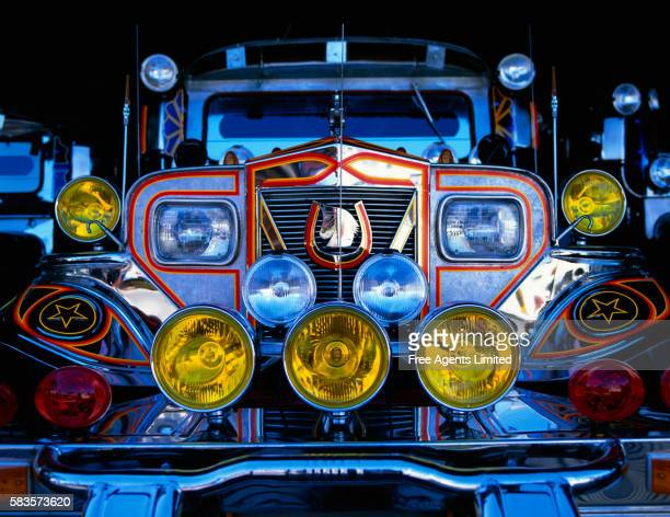front of jeepney - jeepney stock pictures, royalty-free photos & images