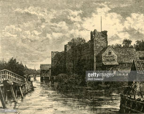 Front of Newark Castle' 1898 Founded mid 12th century by Alexander Bishop of Lincoln by charter of Henry I Dismantled in 17th century after the...