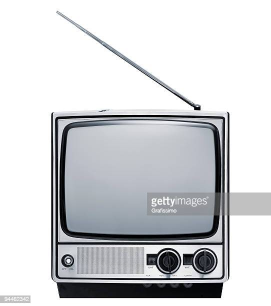 front of old grey television - television show stock pictures, royalty-free photos & images