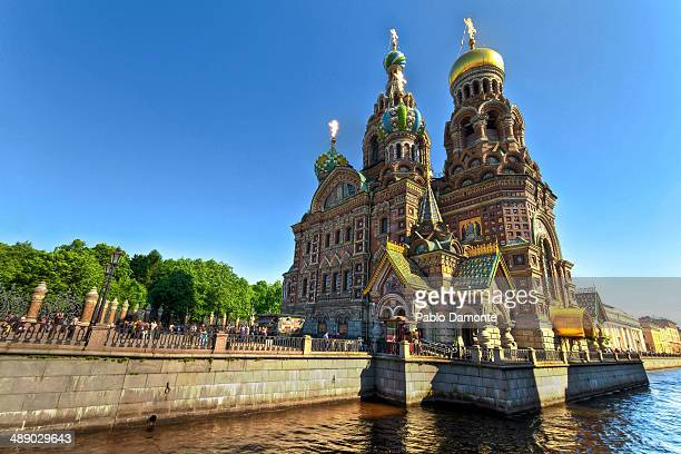CONTENT] Front of the Church of the Savior on Spilled Blood one of the most renowned St Petersburg Russia icons