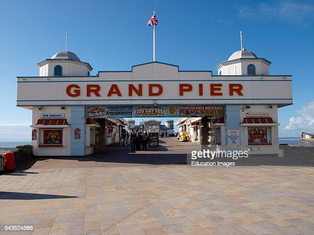 Front of the Grand Pier WestonsuperMare Somerset UK