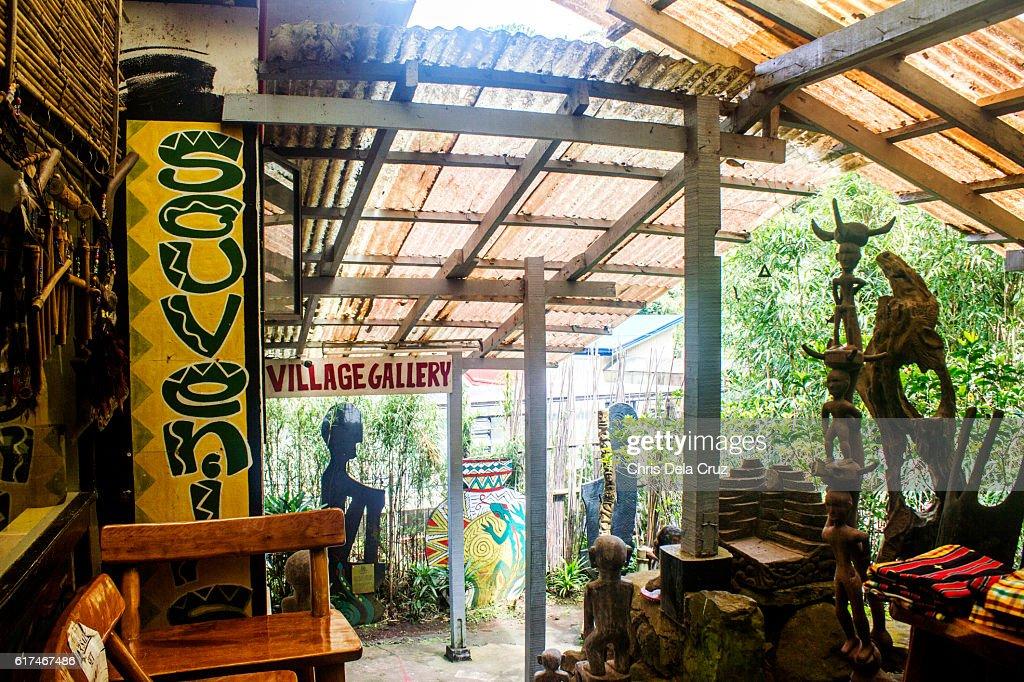 Front of the souvenir shop in Tam-awan village : Stock Photo