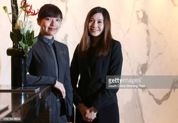 Front Office Duty Manager Nicole Tang and Assistant Human Resources Manager Jacqueline Cheng at the Cordis Hotel in Mong Kok 07JUN17 SCMP / David Wong