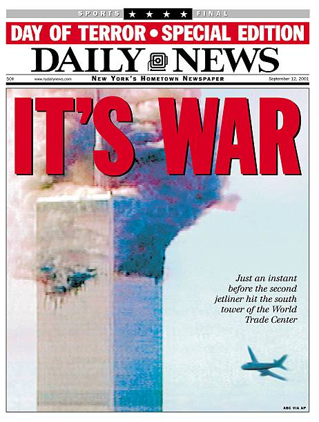 Front page of the Daily News dated Sept. 12, 2001, Headline: