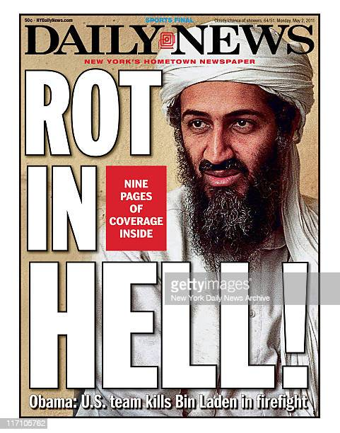 Front page of the New York Daily News for Monday May 2 2011 ROT Obama US team kills Bin Laden in firefight