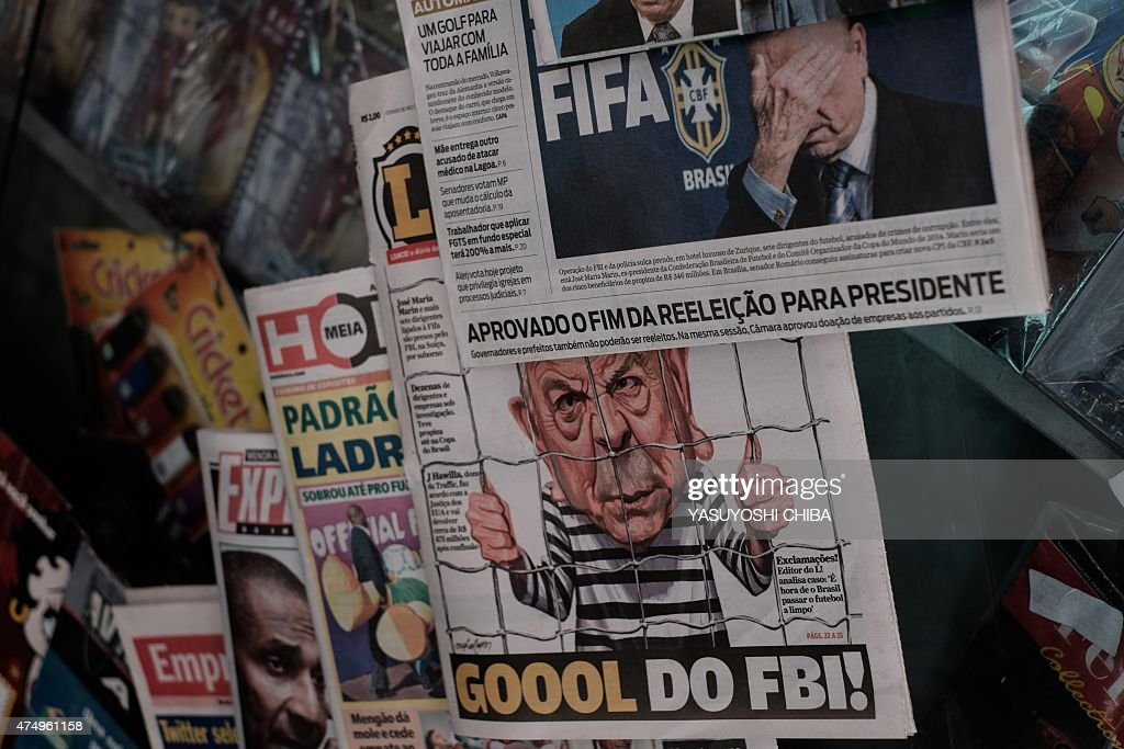 BRAZIL-FIFA-CORRUPTION-NEWSPAPER : News Photo