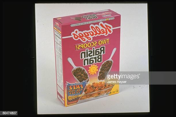 Front panel of Kellogg's Raisin Bran cereal box