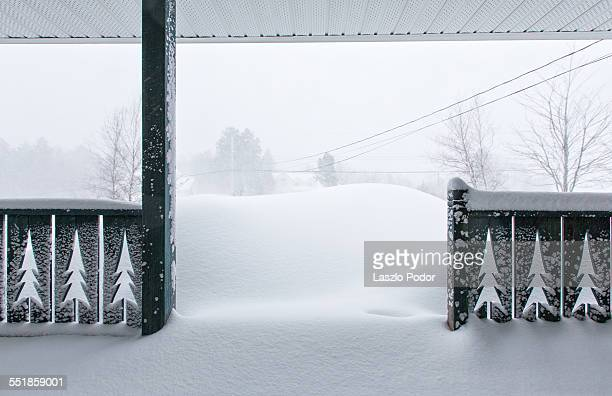 Front porch after a blizzard in a Halifax suburb