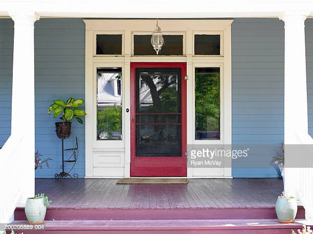 Front porch and front door of house