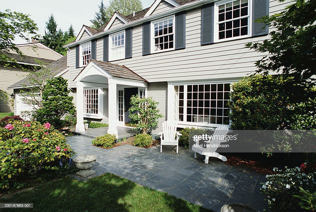 Front Porch And Patio Of House Foto De Stock Getty Images