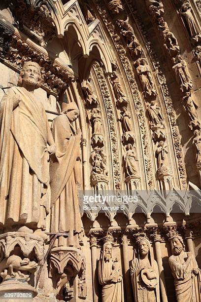 Front portal of Reims Cathedral