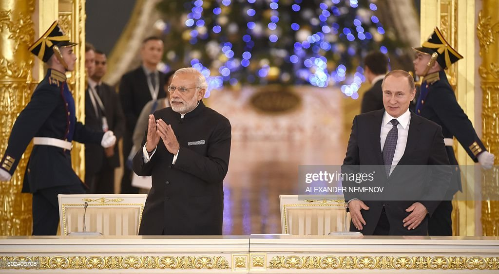 RUSSIA-INDIA-POLITICS-DIPLOMACY : News Photo